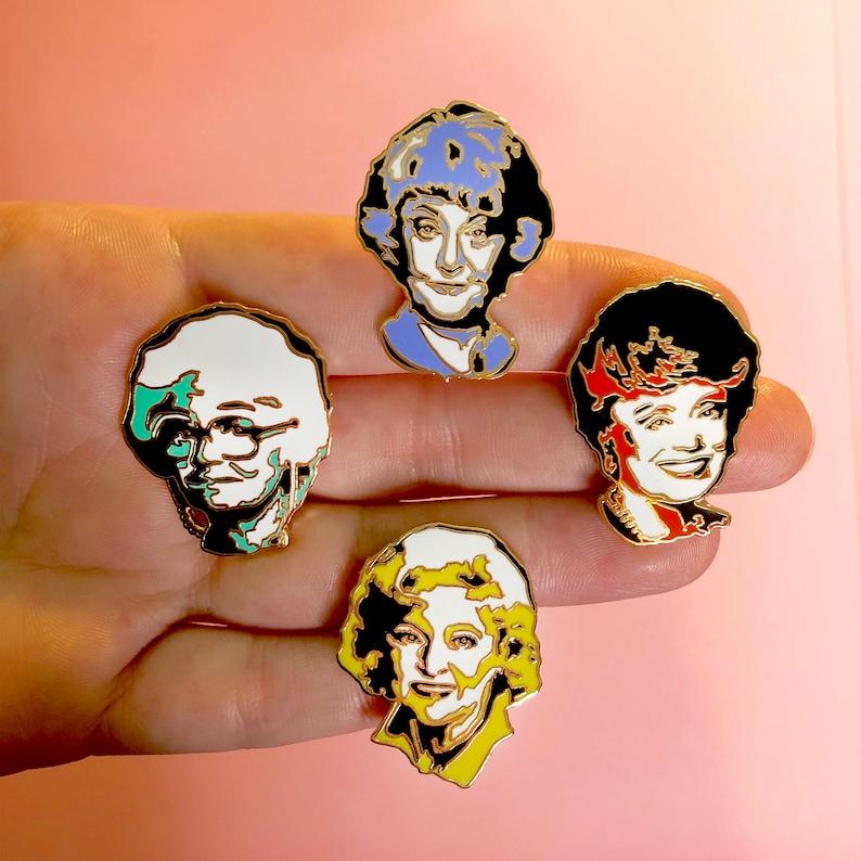 Enamel Pin Golden Girls Blanche Dorothy Rose  Sophia image 0