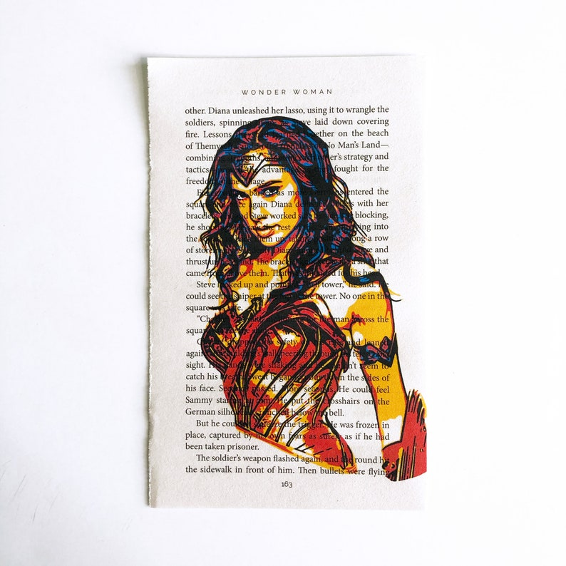 Wonder Woman Gal Gadot Book Page Print Movie Print image 0