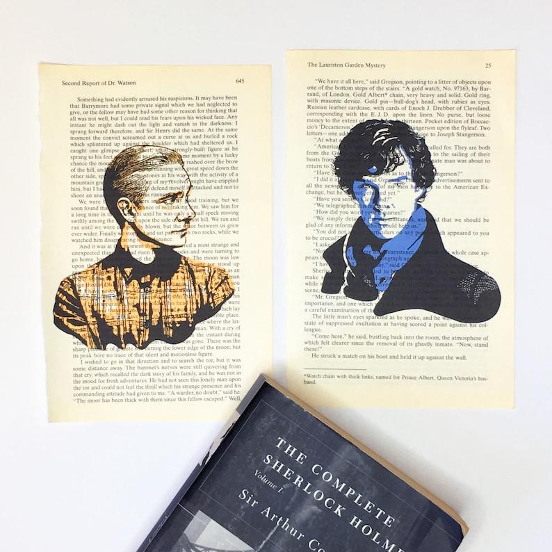 Sherlock Holmes Doctor John Watson Tv show art print on Sherlock AND Watson