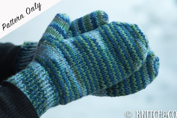 Knitted Mittens Pattern Chunky Mittens Pattern Easy Mittens
