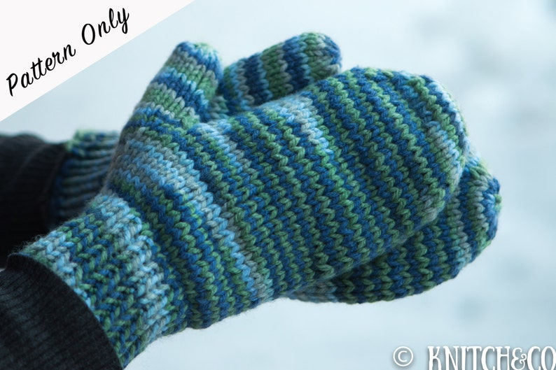Knitted Mittens Pattern Chunky Mittens Pattern Easy Mittens Etsy