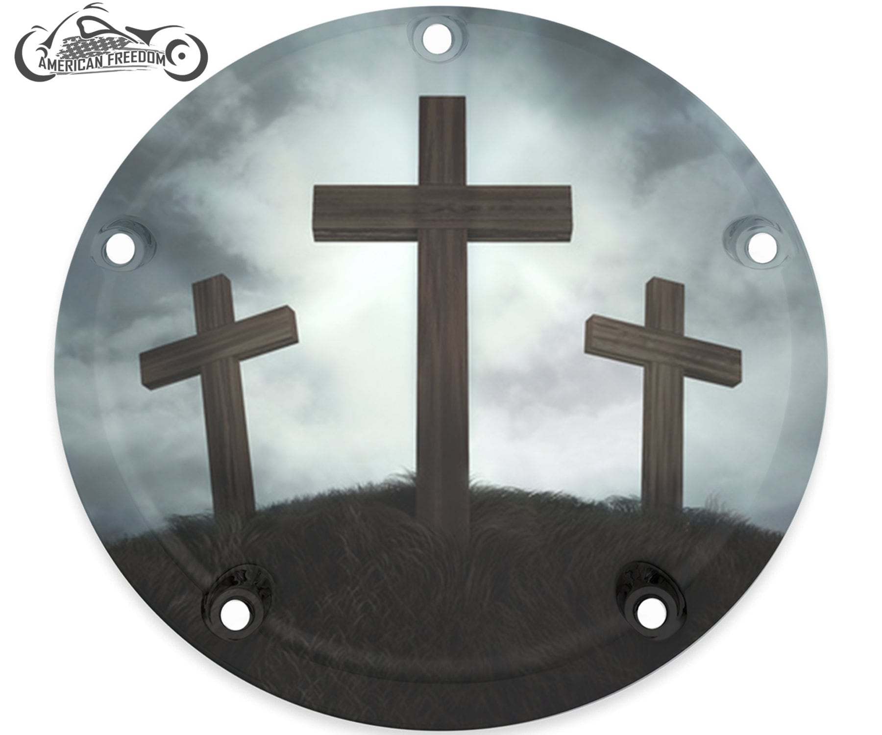 Harley Davidson Custom Made Derby Cover or Timing cover (Your choice) For  all Big Twin, Twin Cam, Milwaukee 8 & Sportster - 3 Crosses