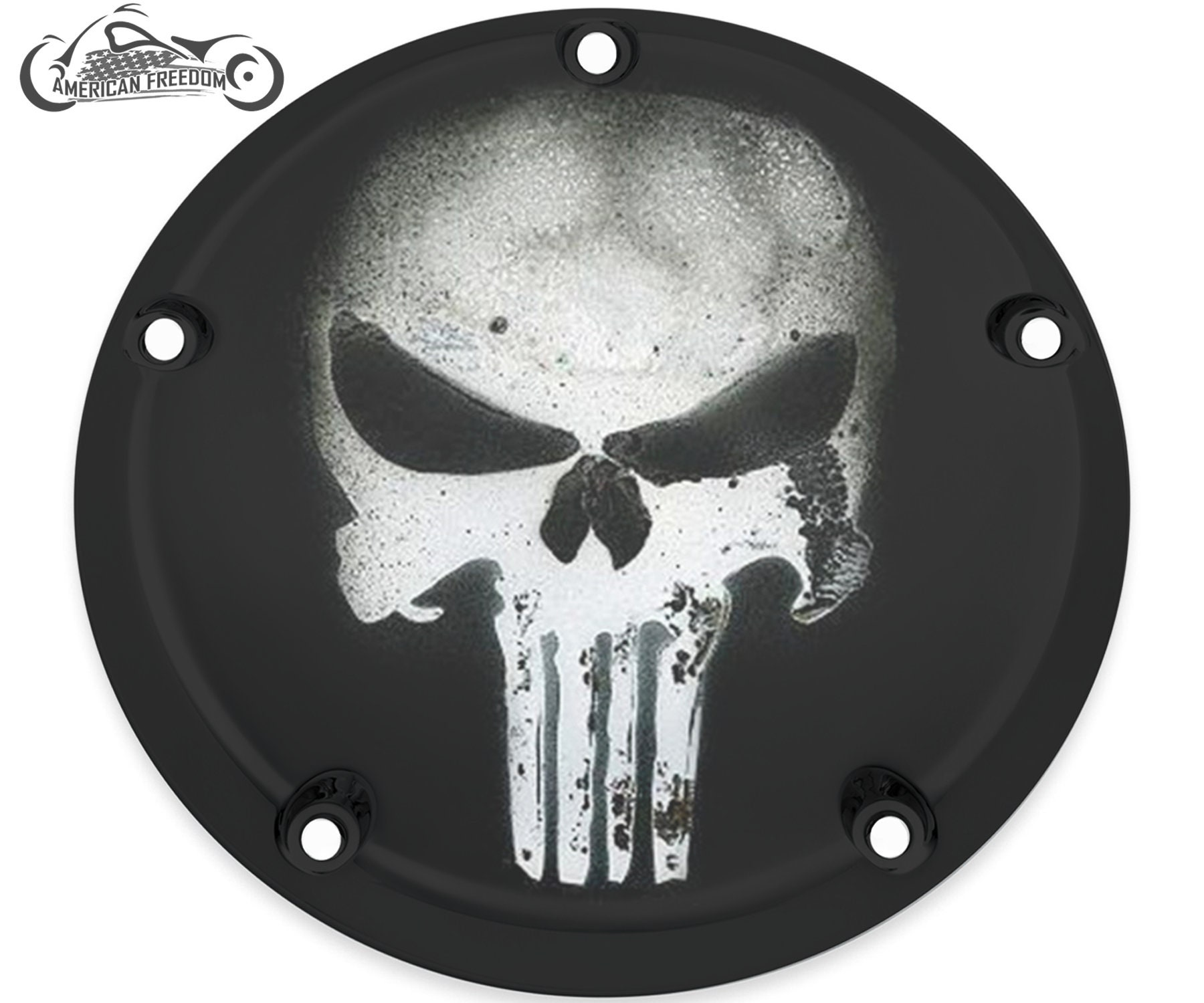 Harley Davidson Custom Made Derby Cover or Timing cover (Your choice) Twin  Cam, Milwaukee Eight, Sportster - Punisher Skull