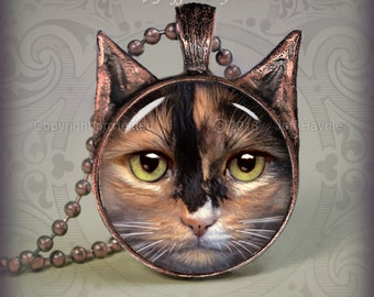 CA2 CALICO CAT pendant