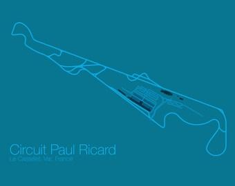 Circuit Paul Ricard Poster - Vector Art