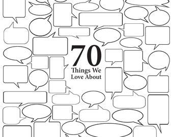 Personalized - 70 Things We Love About {Insert Name} - Vector Art