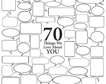 70 Things We Love About You - Vector Art
