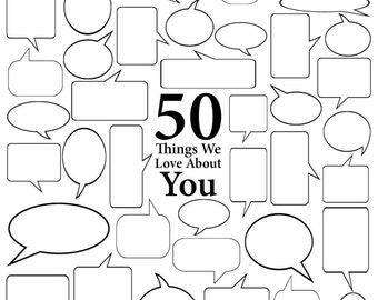 50 Things We Love About You - Vector Art