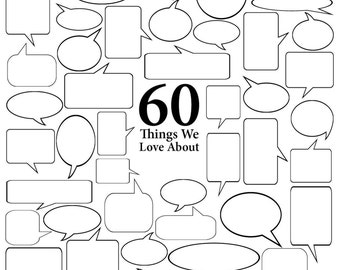 Personalized - 60 Things We Love About {Insert Name} - Vector Art