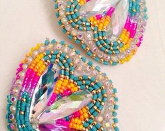 Native American Beaded Earrings: Blossom Set