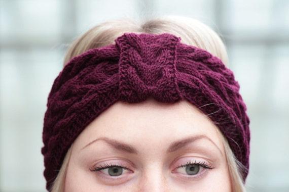 Winterkirsche Stirnband Stricken Frauen Turban gestrickte | Etsy
