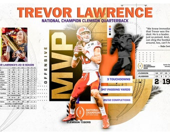 790e55ce8 Trevor Lawrence, National Champion Quarterback, 19
