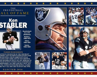 4abeebc31 Raiders Great Ken Stabler Hall of Fame Commemorative Poster