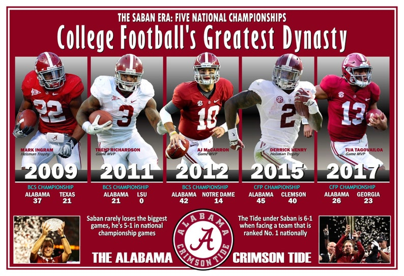 Alabama Crimson Tide # 4 Ncaa College pegatina de Vinilo calcomanía auto Ventana Pared