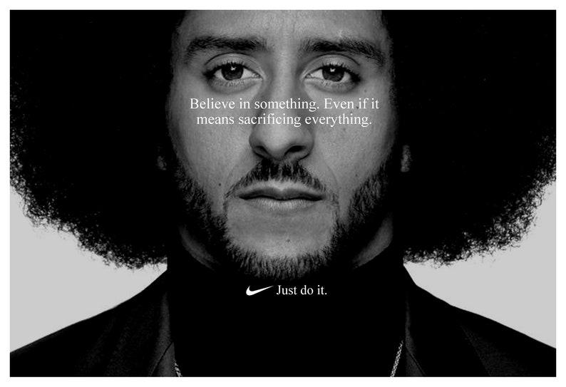 4eb3c4788 Colin Kaepernick  Just Do It  Replica Nike Ad Poster