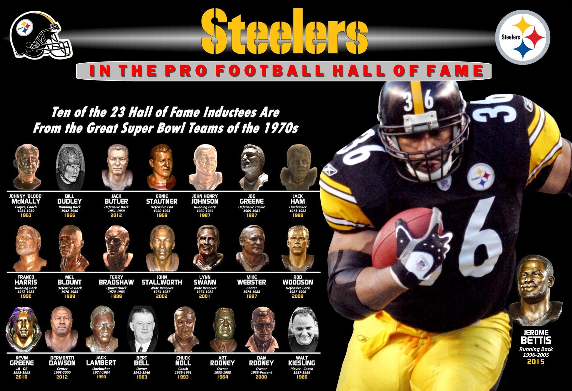 c8d6ef0e0 Steelers in the Hall of Fame Featuring Jerome Bettis