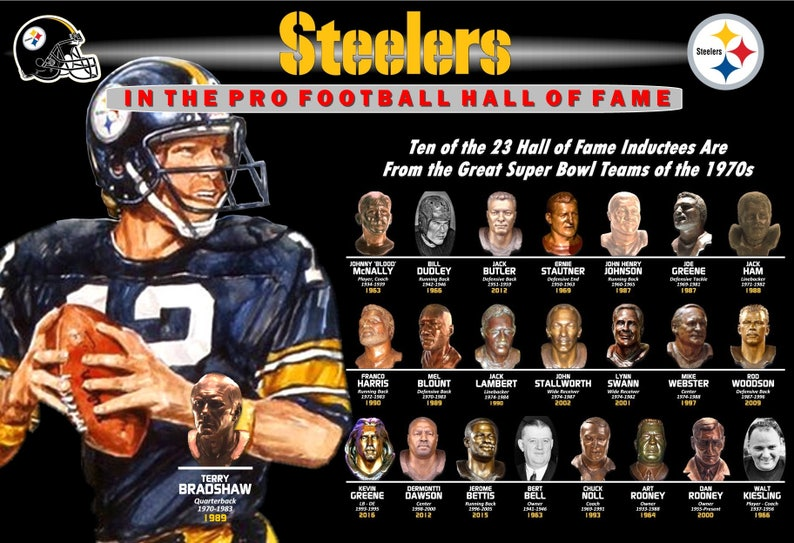 a1f45f335 Steelers in the Hall of Fame Featuring Terry Bradshaw