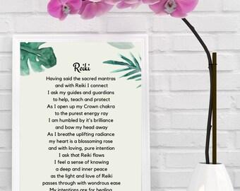 Reiki Poster | Printable Reiki Art | Reiki Art | Reiki Gift | Wall Art | Digital Prints | Reiki Quote | Home Decor | Prints