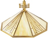Stained Glass Pendant Light by Fredrick Ramond