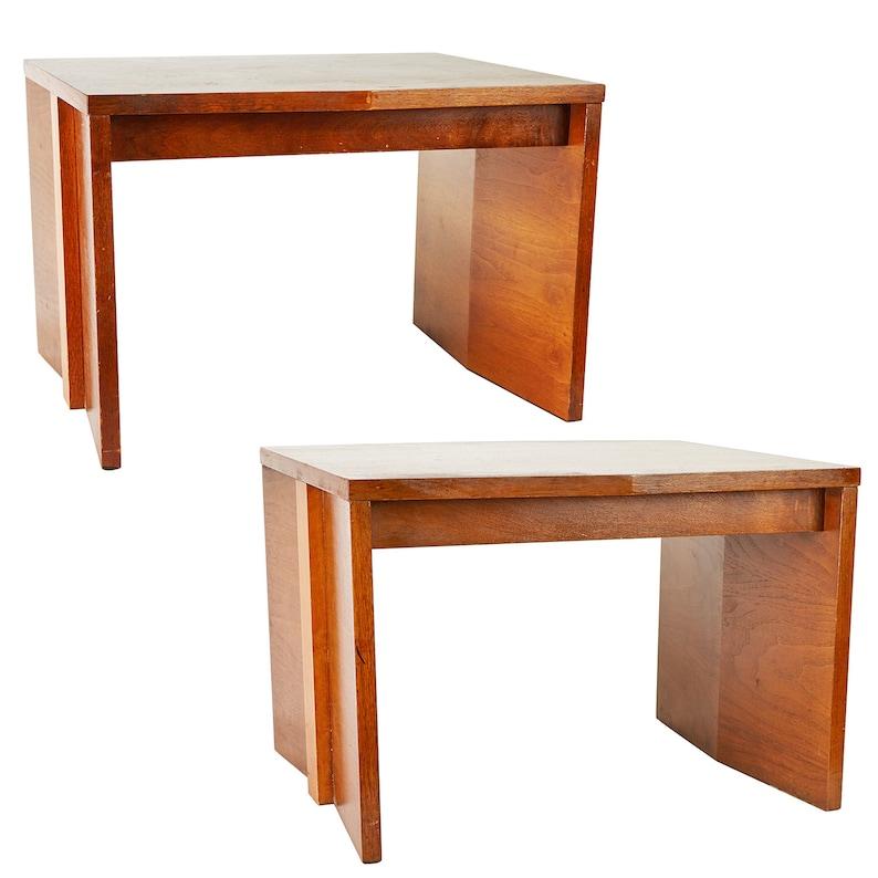 Vintage Lane Furniture Large Brutalist Side Tables