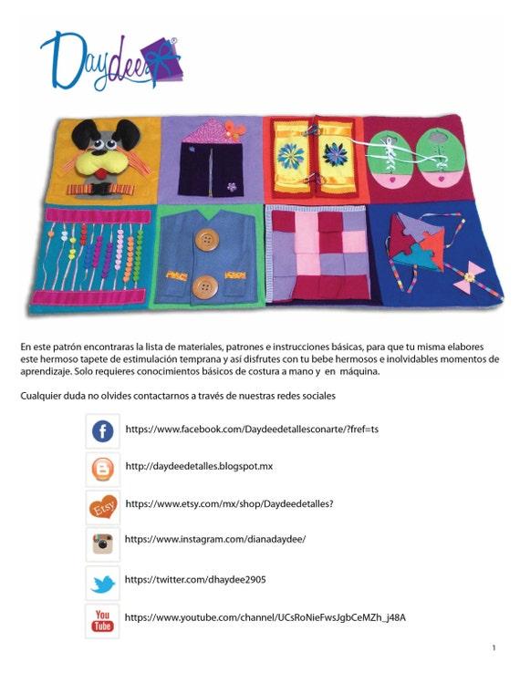 Patrón libro tranquilo Patrón pdf quiet book Moldes para | Etsy