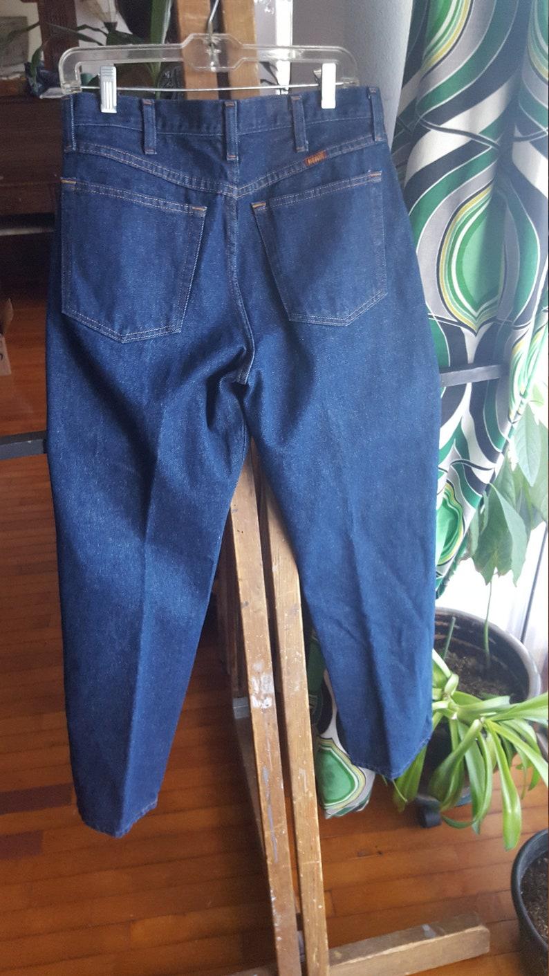 Rustler jeans blue Men/'s work clothes dark blue wash rugged denim Size 32 x 30