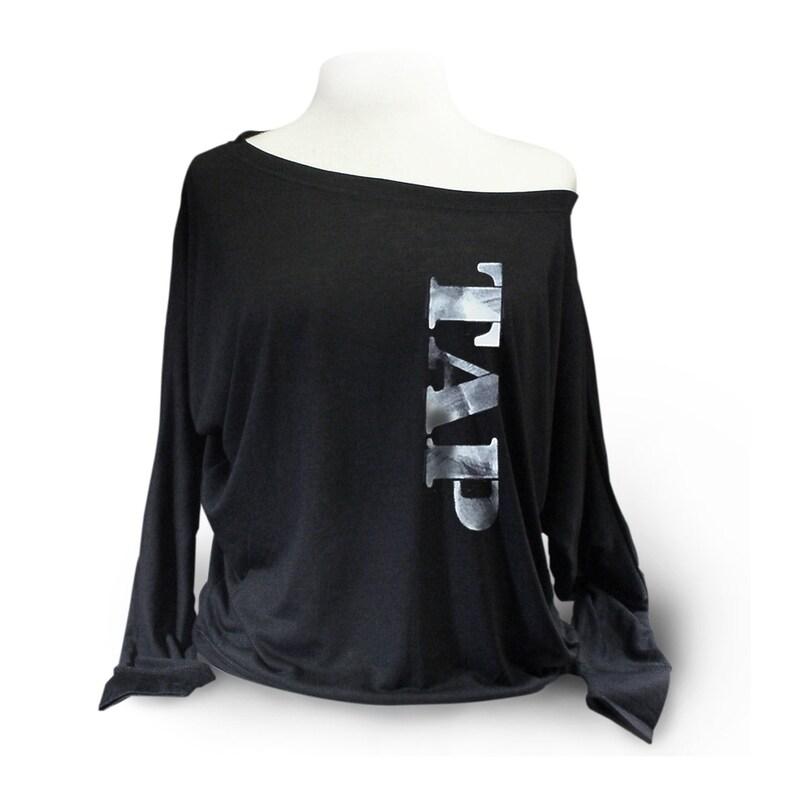18ebd4f0234250 Tap Dance Shirt. Long Sleeve Tap Dancer Shirt. Black Tap Dance | Etsy