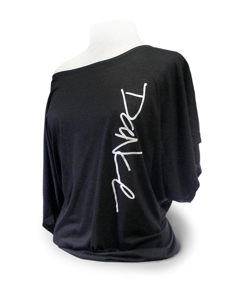 50c249d13ac Dance Shirt. Black Soft Flowy Dancer Top. Ballet Shirt.