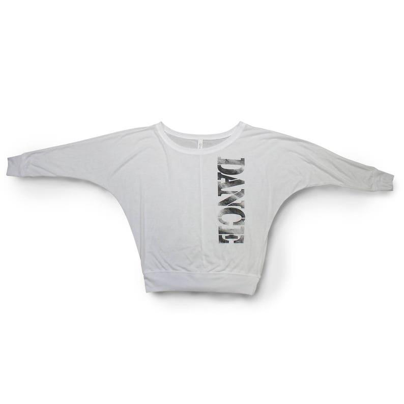 4d2686d348013b White Dance Shirt. Soft Flowy Long Sleeve Shirt For Dancers. | Etsy
