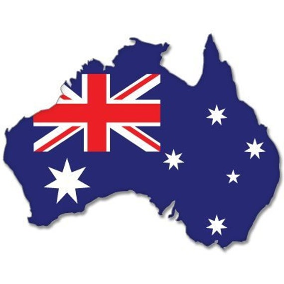 Australia Map With Flag.Australia Map Flag Bumper Sticker Decal 5 X 4 Window Car Decal Vinyl Bs 605