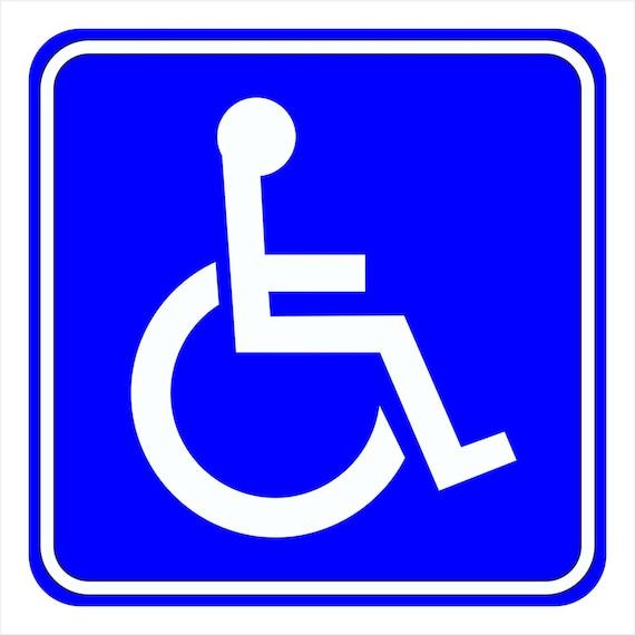 Discapacitados silla de ruedas s mbolo ventana azul etsy for Sillas para discapacitados