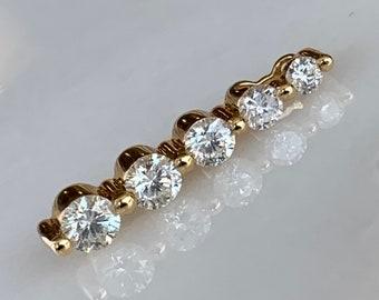 f8ddb4ad69b092 Stunning 14k Yellow Gold Five Stone Diamond Pendant