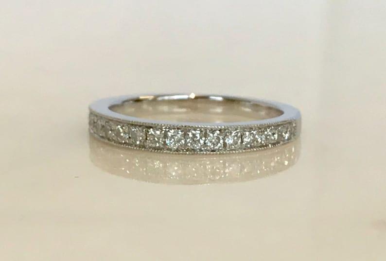 Stunning 18k White Gold Diamond Band