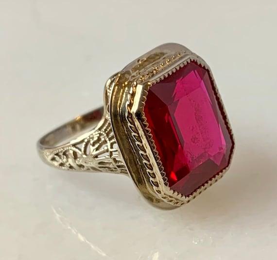 Art Deco Solid 2.64ct 10k Rose Gold Oval Garnet Diamond Screw Backing Earrings