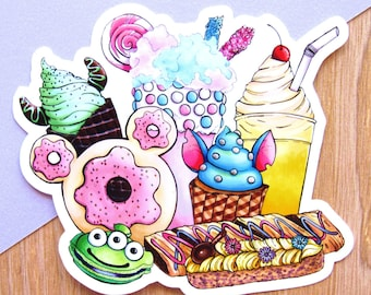 WDW Treats Sticker | Disney World Sticker - Dole Whip Sticker