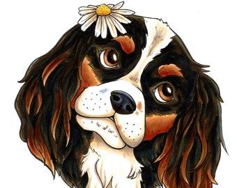 Hand Drawn Dog Portrait - Hand Painted Custom Art