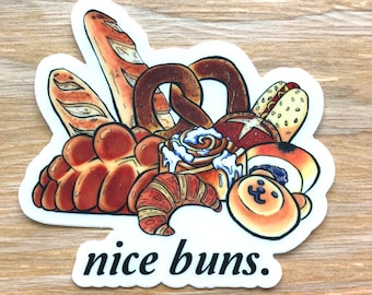 Nice Buns Sticker | Instant Pot Decal - Baker Gift - Fridge Decal