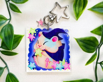 Wizard Hamster Acrylic Keychain | Hamster Accessories - Resin Keychain Kawaii