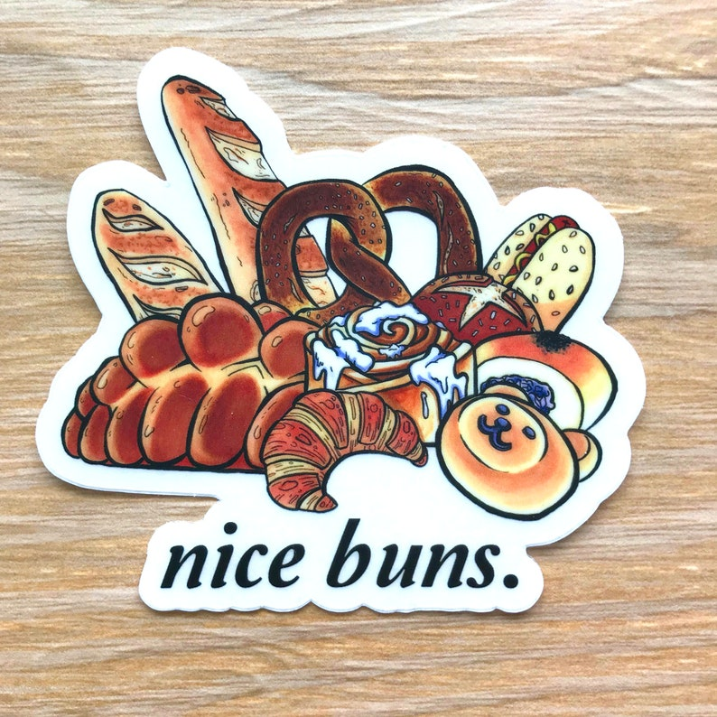 Nice Buns Sticker  Instant Pot Decal  Baker Gift  Fridge image 0