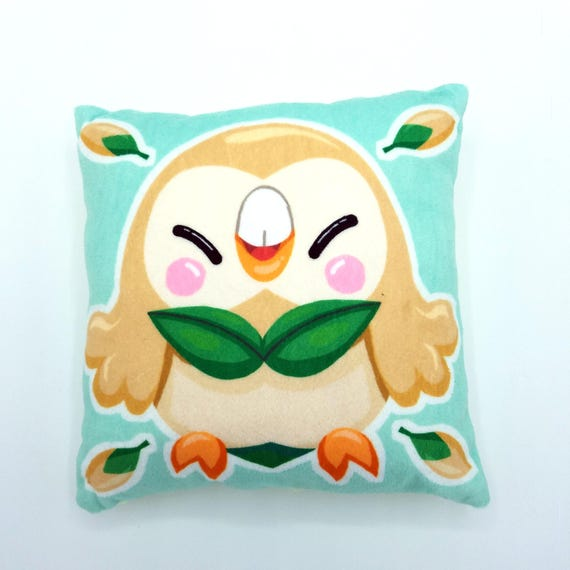 Rowlet Pokemon Sun And Moon Grass Starter Plush Pillow Etsy