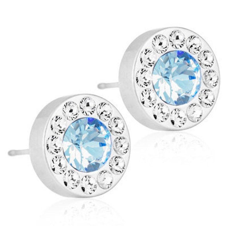 b4c47a071 Halo Earrings Alexandrite Blomdahl Earrings Swarovski | Etsy