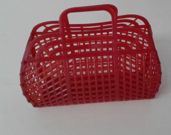 """NEW Vintage Retro 9"""" (1980's) JELLY Plastic Purse (Made in the USA)"""