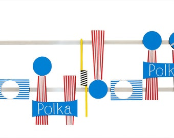 "Liechensteiner Polka, is a Canvas Print from an Original Artwork (Width 10"" by 24"" in Length). Length Variable on Request."