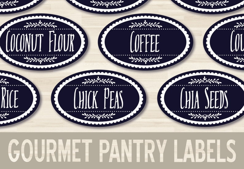 image regarding Printable Pantry Labels titled Printable Pantry Labels // 1.5x2.5\
