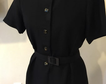 Vintage 1970's Black Joan Holloway Dress