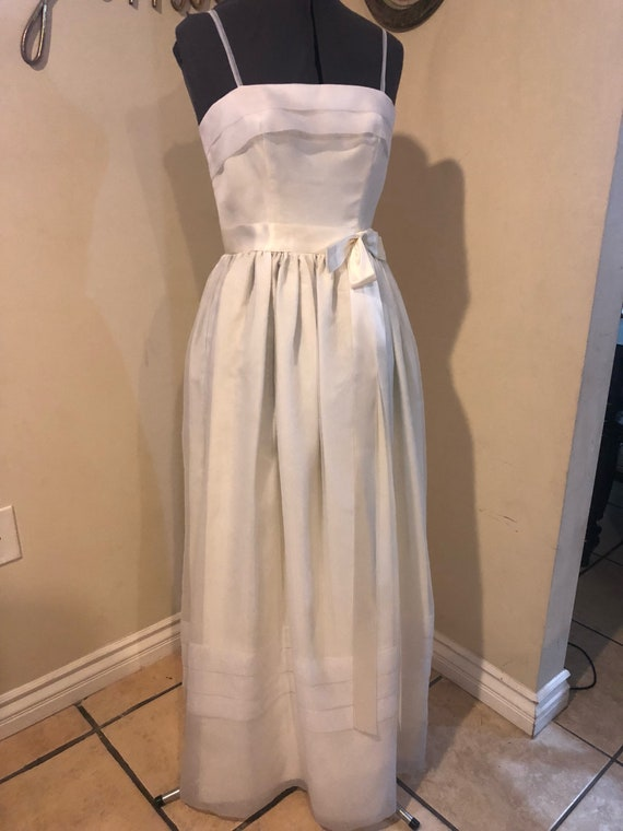 1950's Vintage White Organza Party Dress
