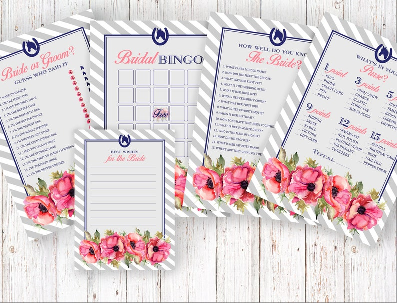 photo regarding Kentucky Derby Games Printable called Bridal Shower Video games Kentucky Derby Quick Obtain Printable Armed forces blush grey poppy preppy spring Summer season hat tea get together horseshoe spring 005