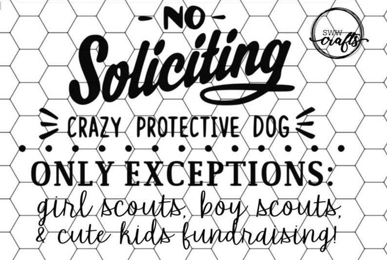 photograph about No Soliciting Printable titled No Soliciting - PDF 8\