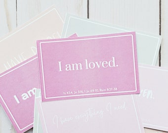 Self Affirmation Cards - Printable - Affirmation Cards - Who I am in Christ