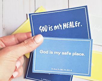 Positive Affirmation Cards - Printable - Affirmation Cards - Who God Is